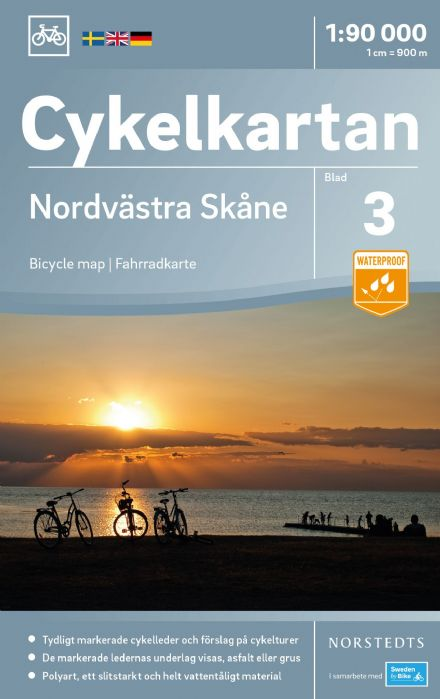 Sweden Cycling Map 03 - Skane North West